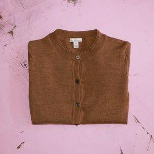 GAP Cinnamon 100% Merino Wool Button Up Cardigan